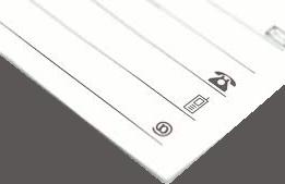 Kontakt: Das Bild zeigt den Teil eines schräg liegenden weißen Notizblockes. In den sichtbaren Zeilen werden ein Telefon-, ein Handy- und ein Add-Zeichen dargestellt.